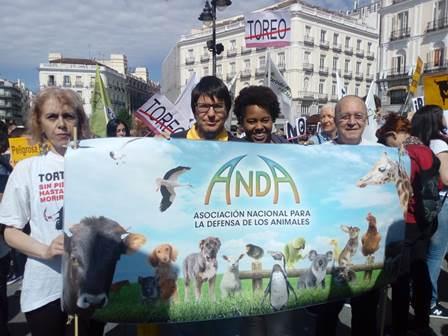 MANIFESTACIÓN ANTITAURINA CELEBRADA EN MADRID EL DÍA 27 DE MAYO.