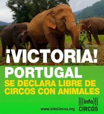 Portugal libre de circos con animales