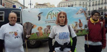 ANDA en la manifestación celebrada en Madrid. NO A LA CAZA