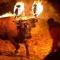 Un año más Medinaceli (Soria) vuelve a aterrorizar  a un animal con lo que más teme, el fuego