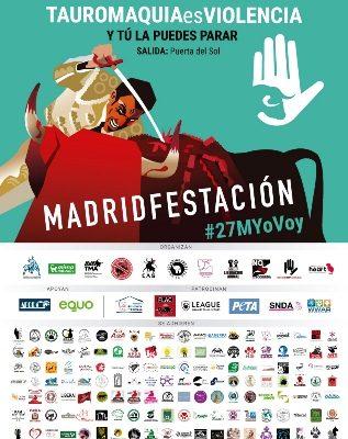 MANIFESTACIÓN ANTITAURINA EN MADRID.