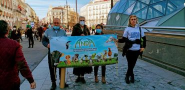 Éxito en la manifestación celebrada en Madrid, en contra de la caza