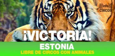 Estonia libre de circos con animales salvajes